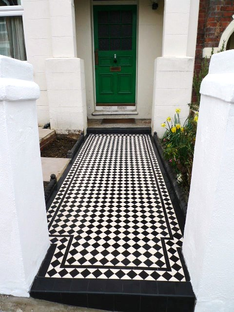 Mosaic Tile Path Mosaic 50mm Tile Path With