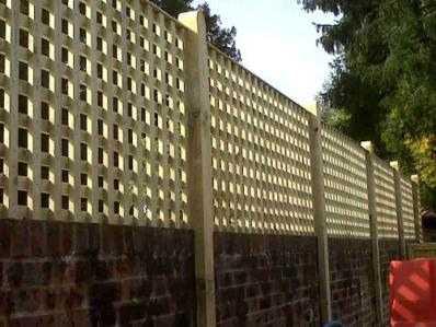 Square Trellis On A Wall Architectural Privacy Screen