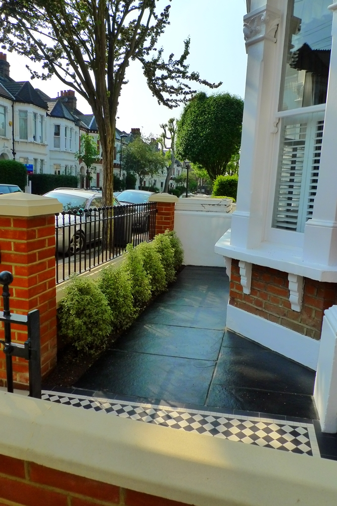 For the home on pinterest bbq party terraced house and for Paved front garden designs