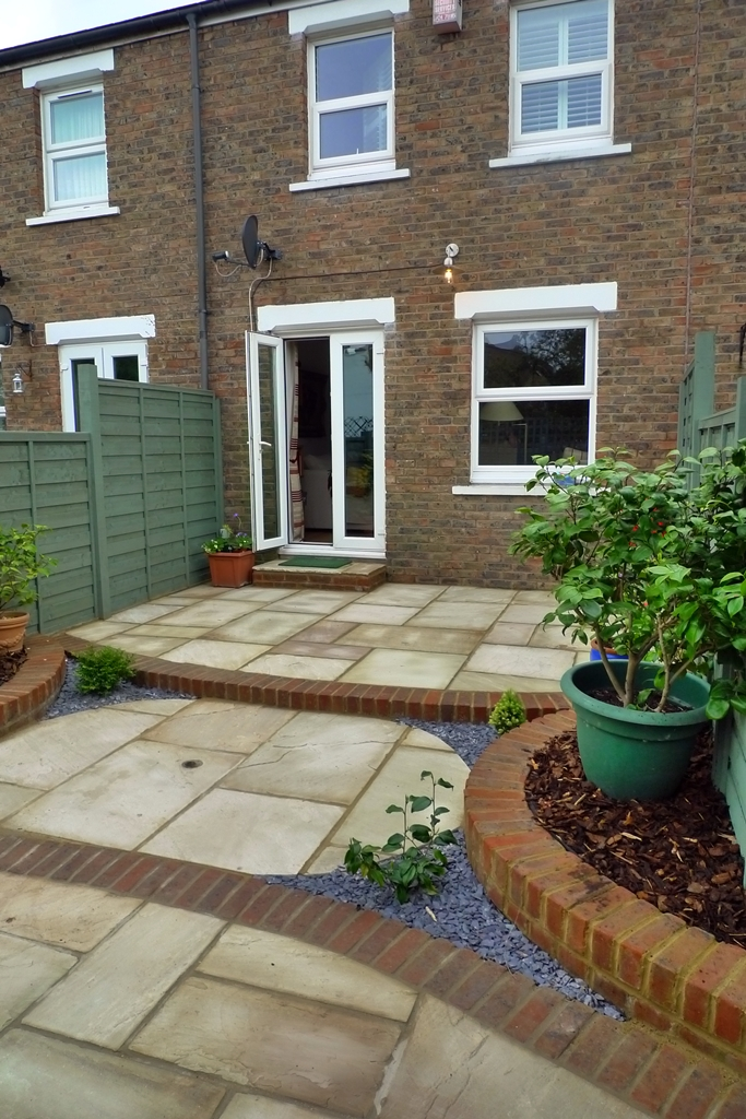 concrete patio extension layout