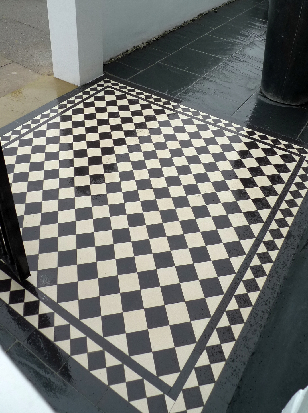 Black And White Tile Path London Garden Blog