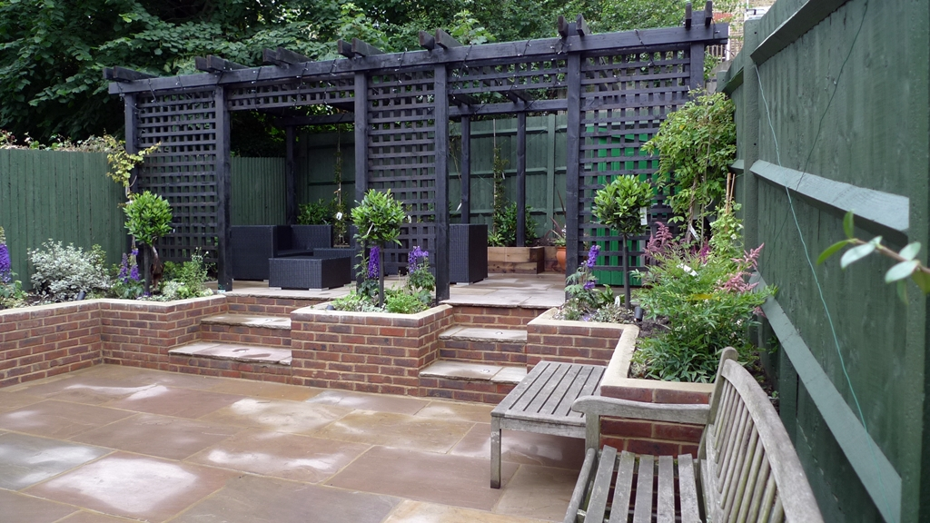 Sandstone Paving Patio London Garden Blog - brick wall patio designs small home