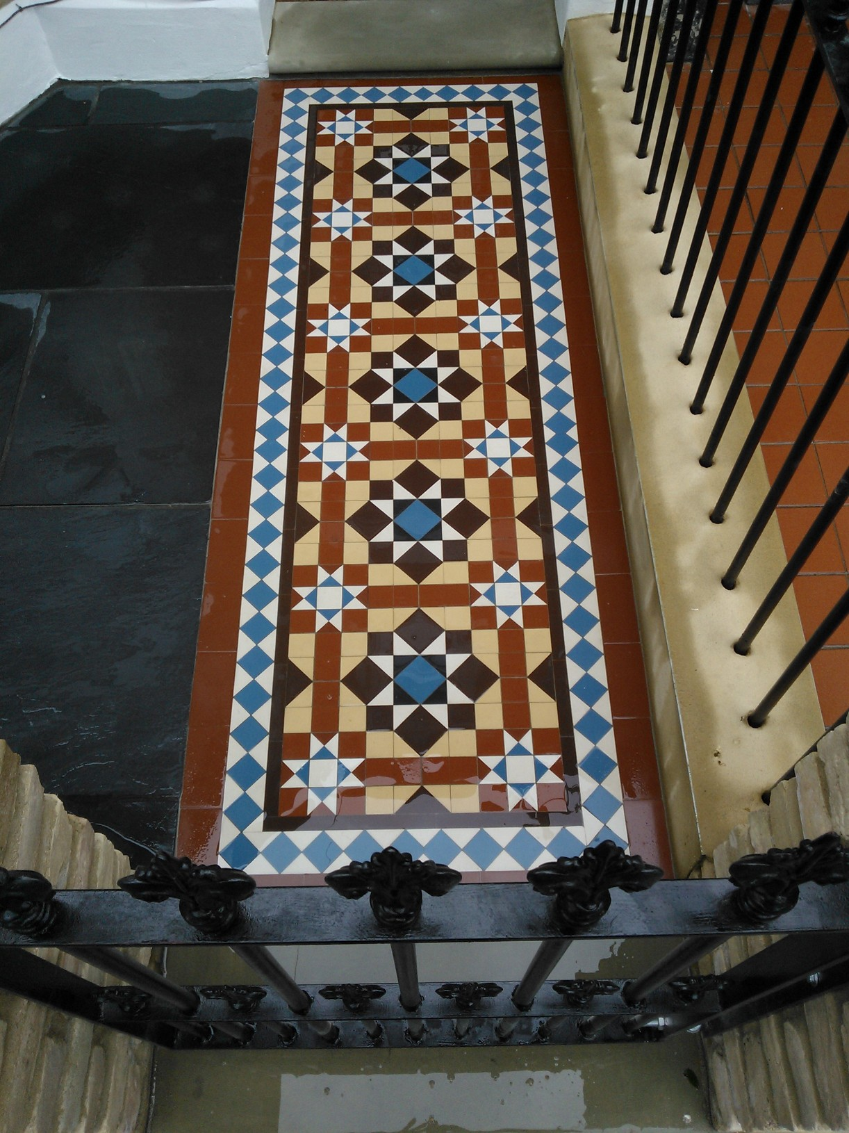 victorian mosaic tile path colours london