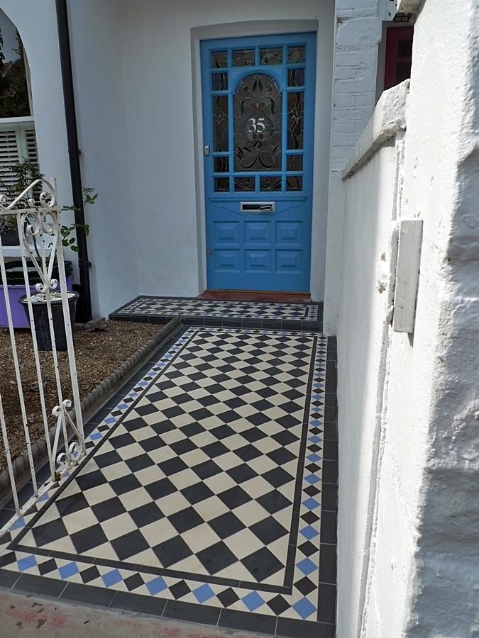Victorian garden path mosaic tile geometric encaustic London