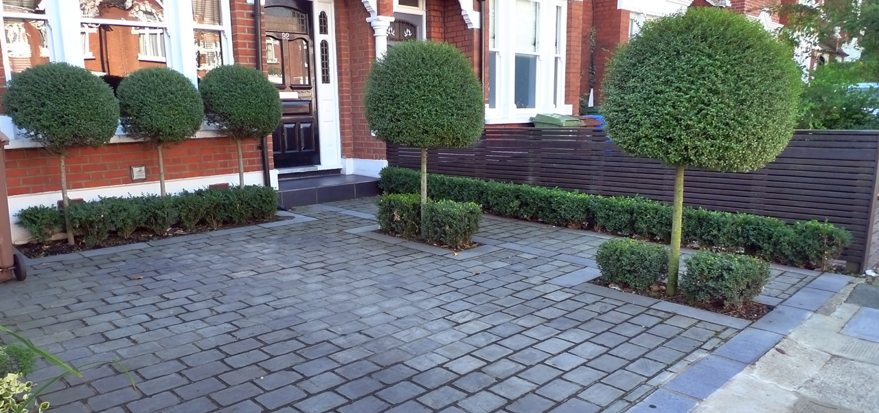 Driveway london garden blog for Paved garden designs