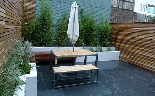 Small Slate Patio Designs 634 x 395
