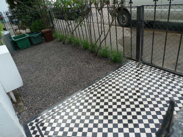 victorian garden path mosaic tile islington london