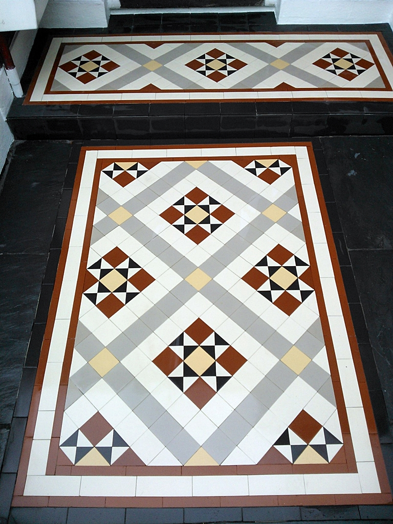 edwardian and victorian mosaic tile path installation east londonlondon