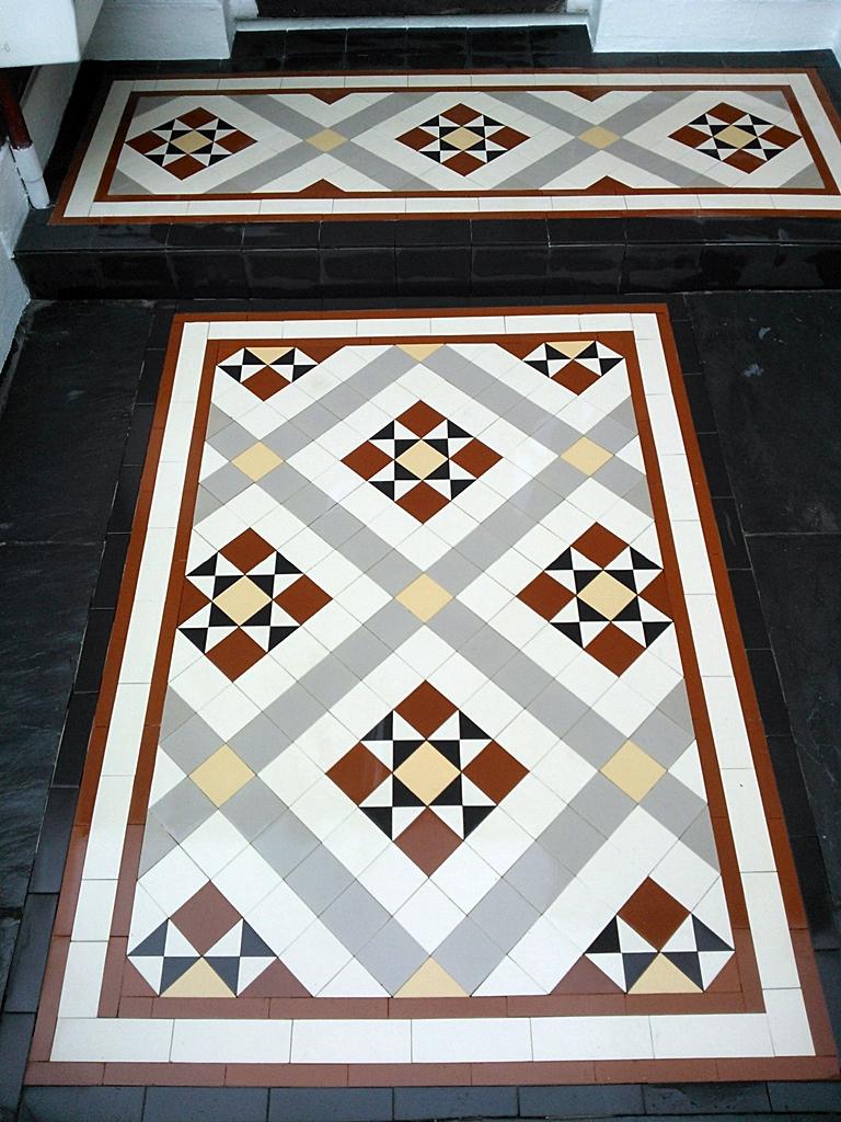 edwardian and victorian mosaic tile path installation east londonlondon