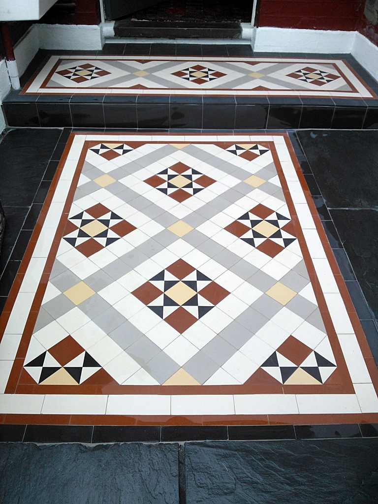 edwardian and victorian mosaic tile path installation london (1)