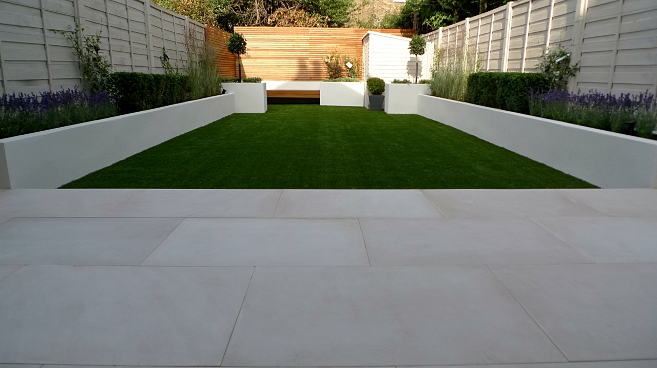 pimlico paving sawn cut beige sandstone patio london