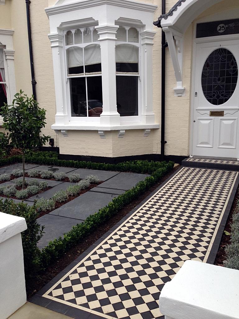 White Mosaic Tiles Garden Walls And Gates On Pinterest