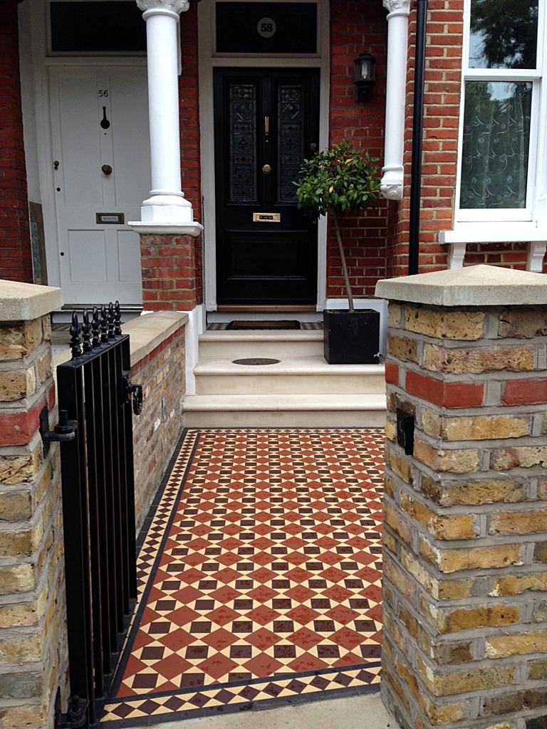 victorian mosaic tile path balham