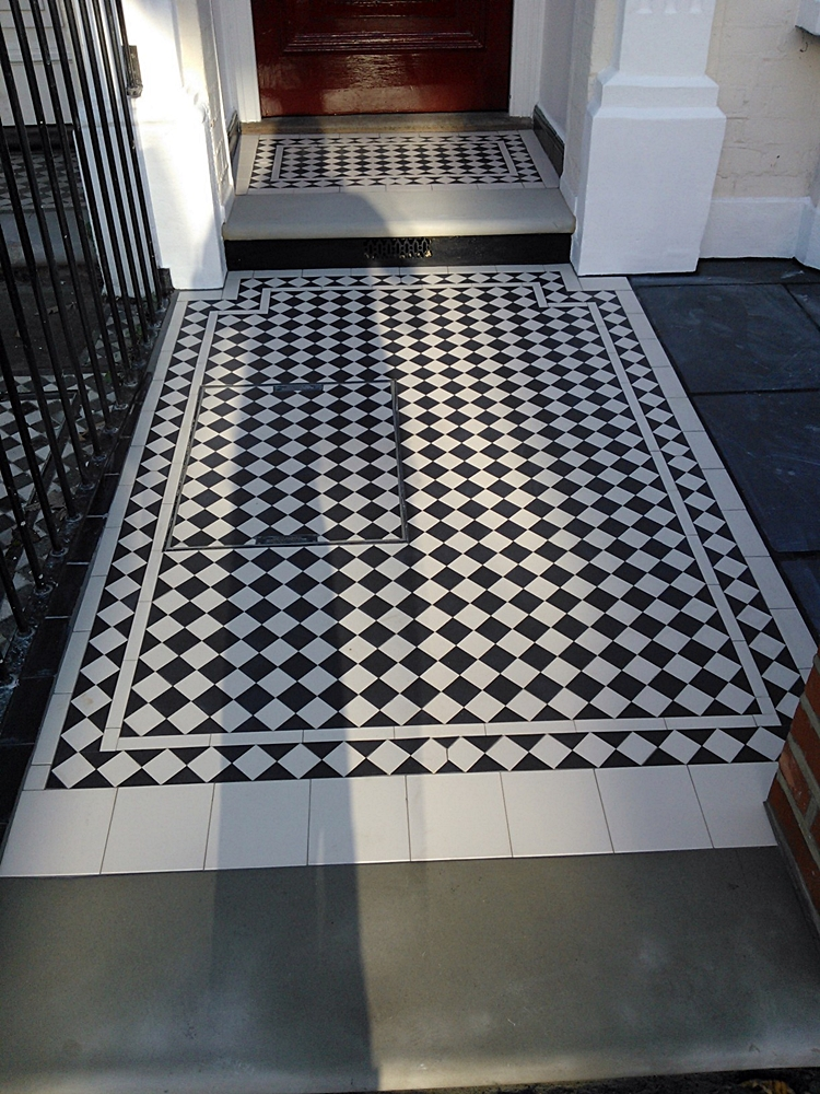 victorian mosaic tile path clapham london