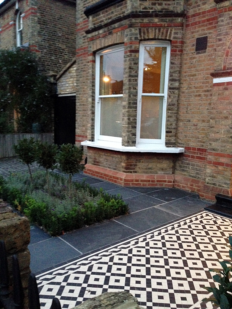 victorian mosaic tile path knot garden london