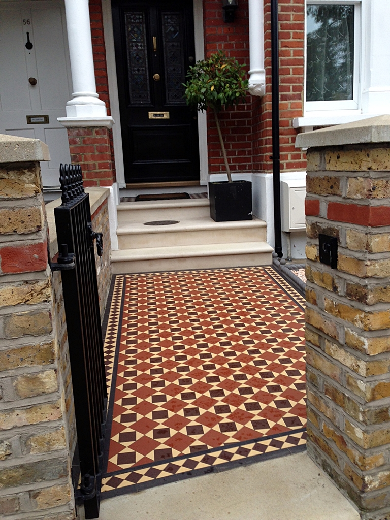victorian mosaic tile path london