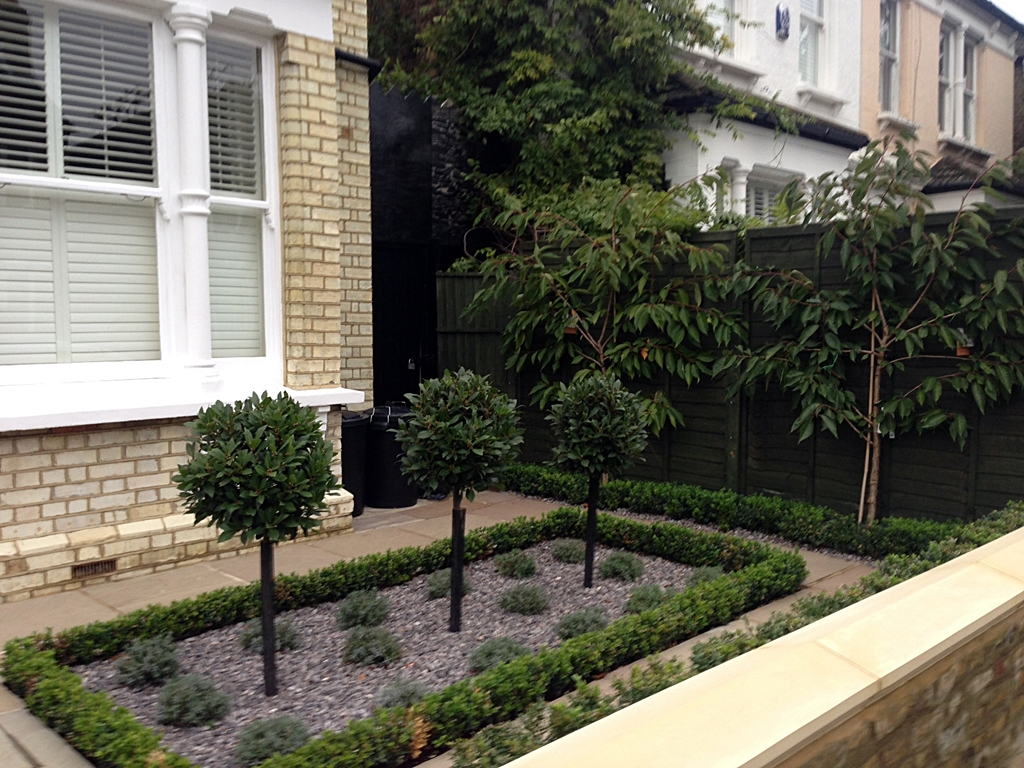 formal planting new garden wall london
