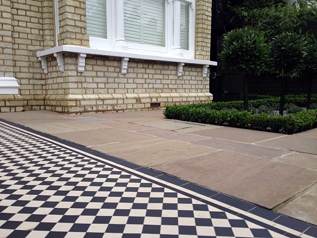 mosaic formal planting sandstone london