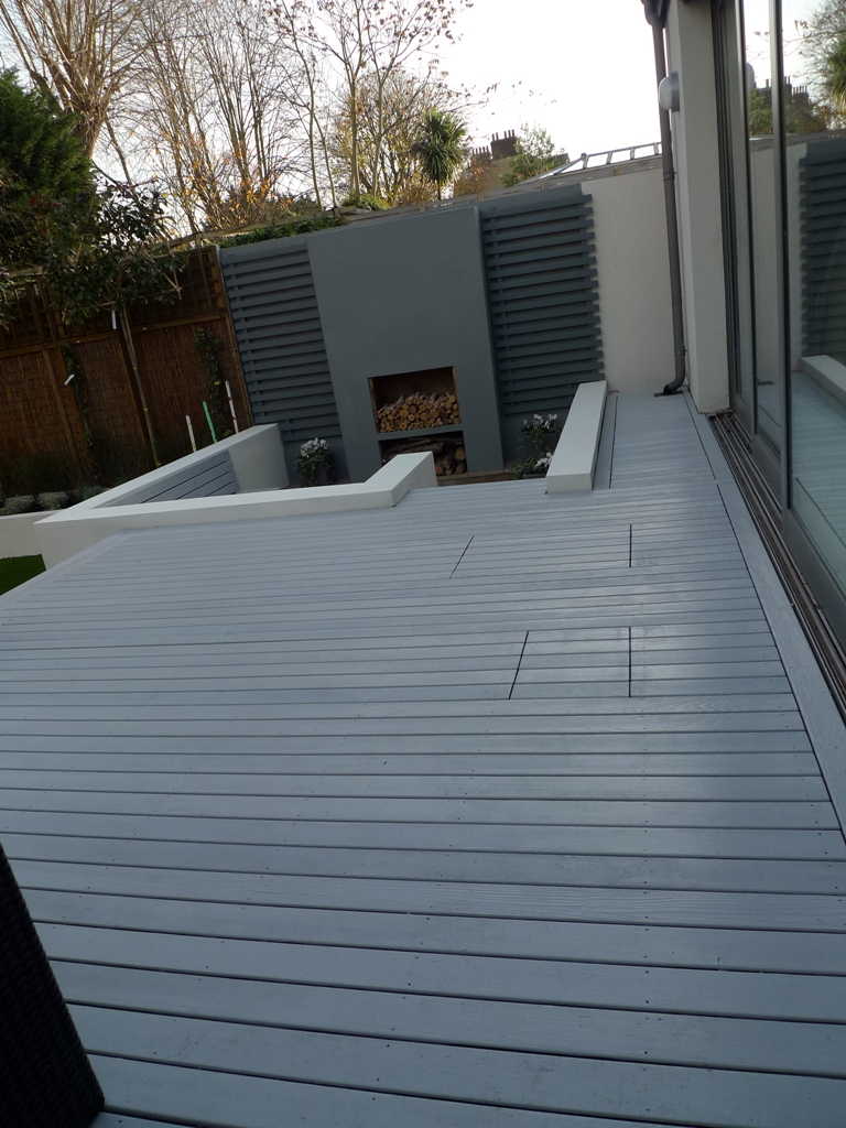 Modern garden design london london garden blog for Flat pack garden decking