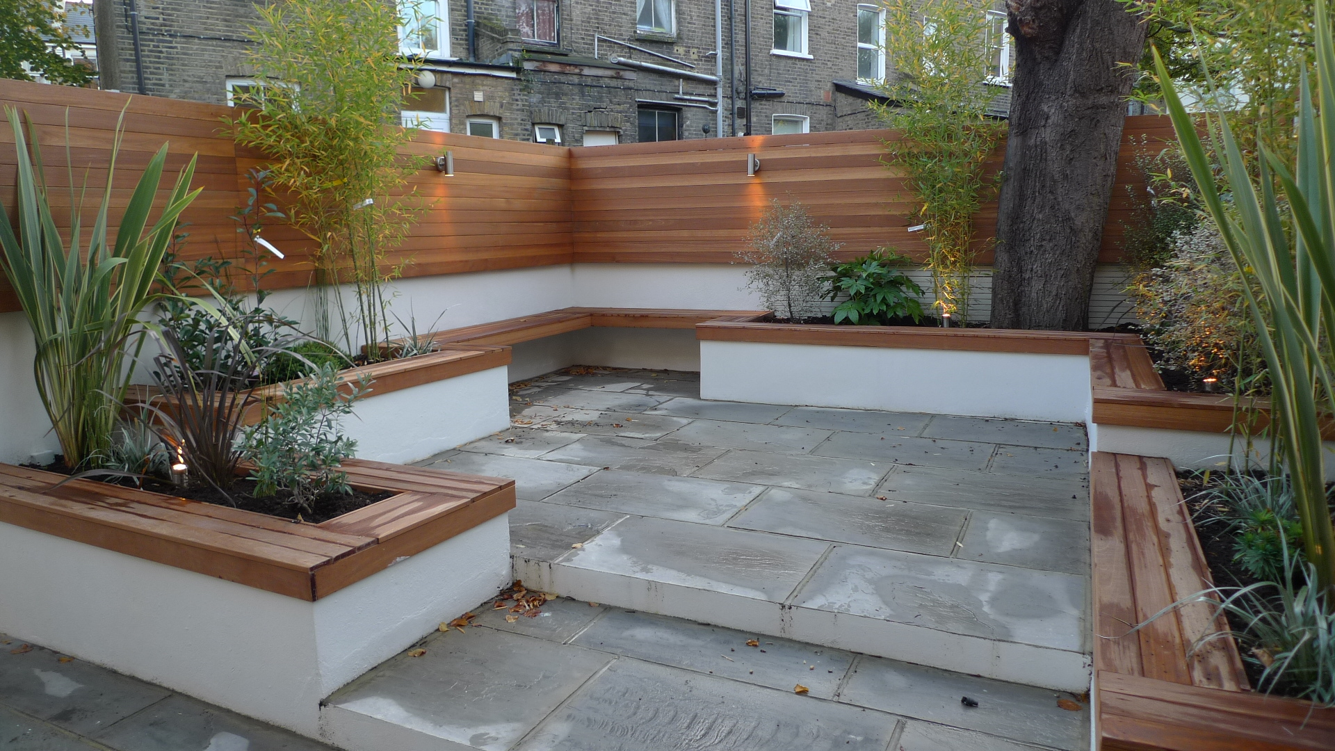 grey indian sandstone patio paving london
