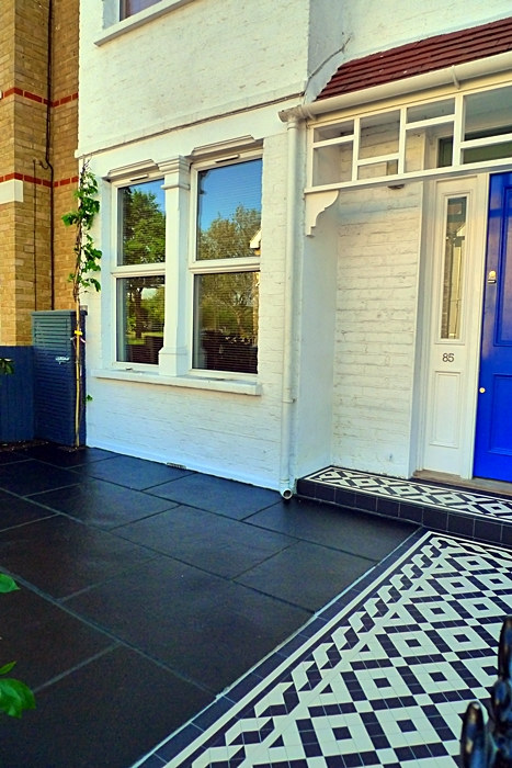 mosaic garden tile path and paving tile installation london