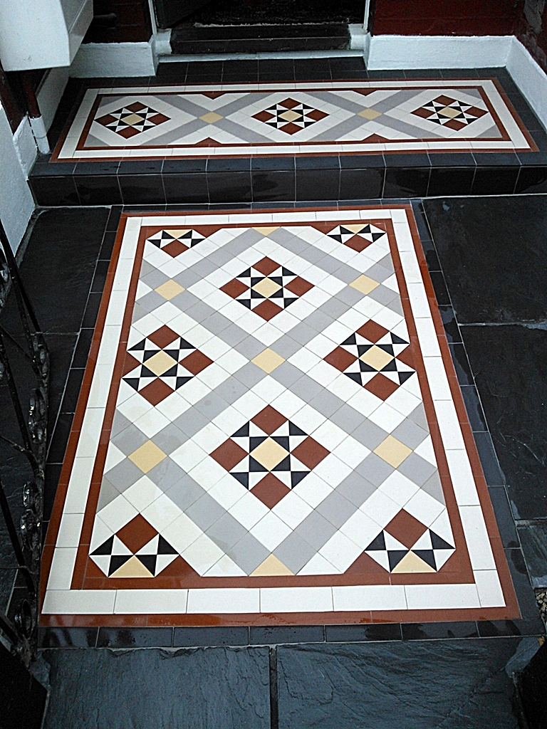 willesden victorian mosaic tile path installation london (4