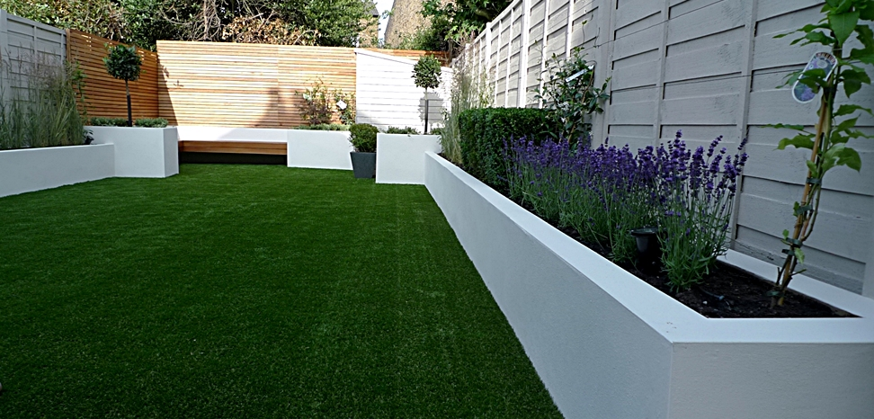 modern london garden design white garden london