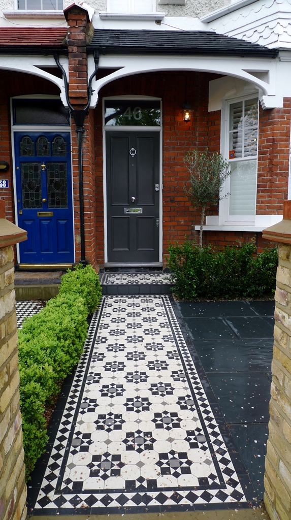 classic victorian mosaic tile path wimbledon london