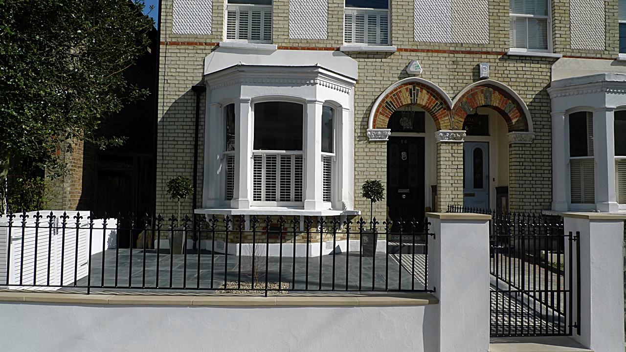 Classic London Victorian Front Garden