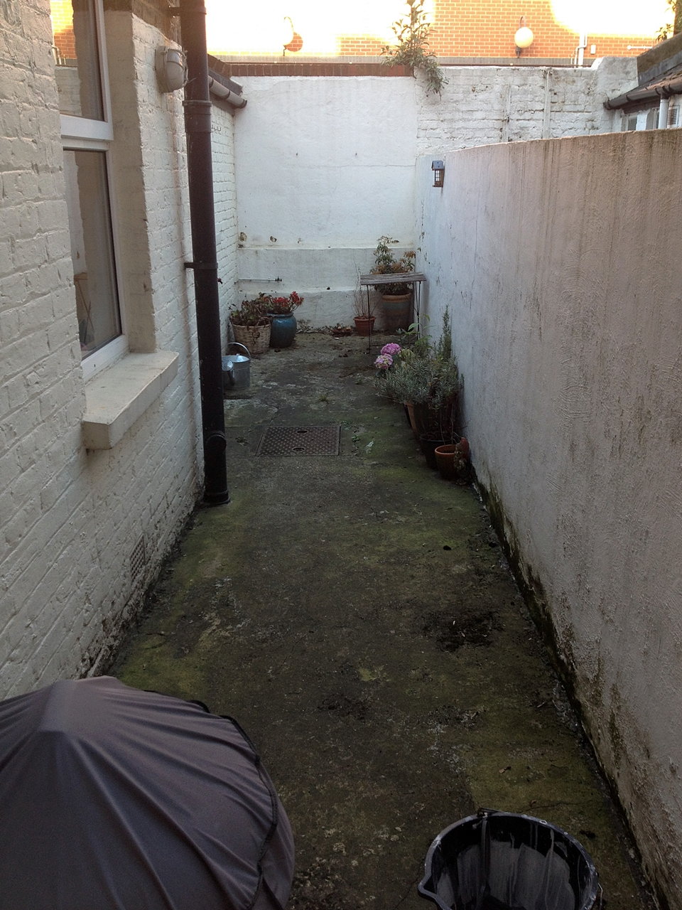 Before And After Small Courtyard Garden Design London