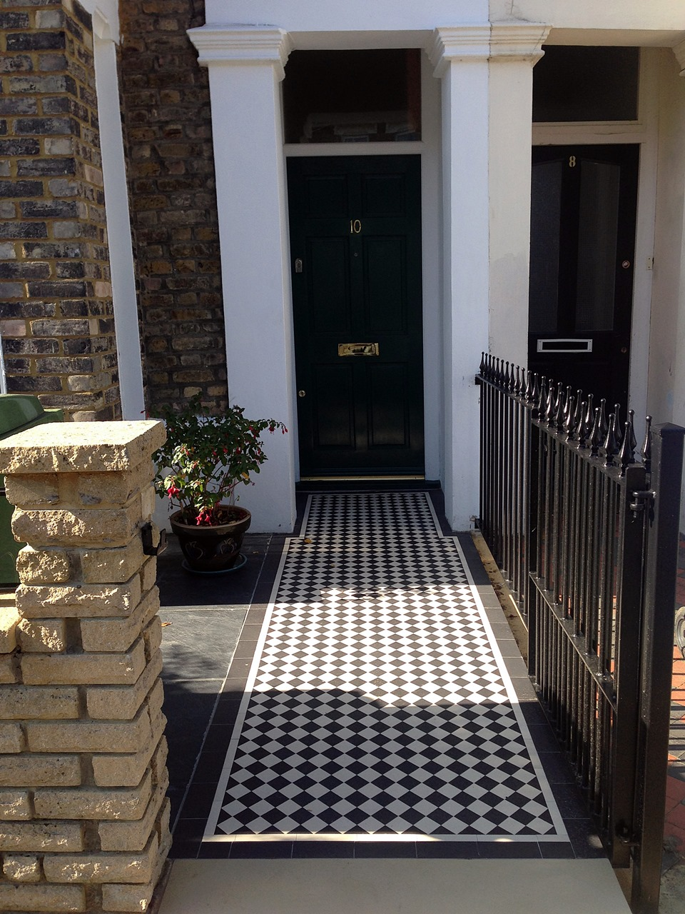 London Front Garden victorian mosaic tile path