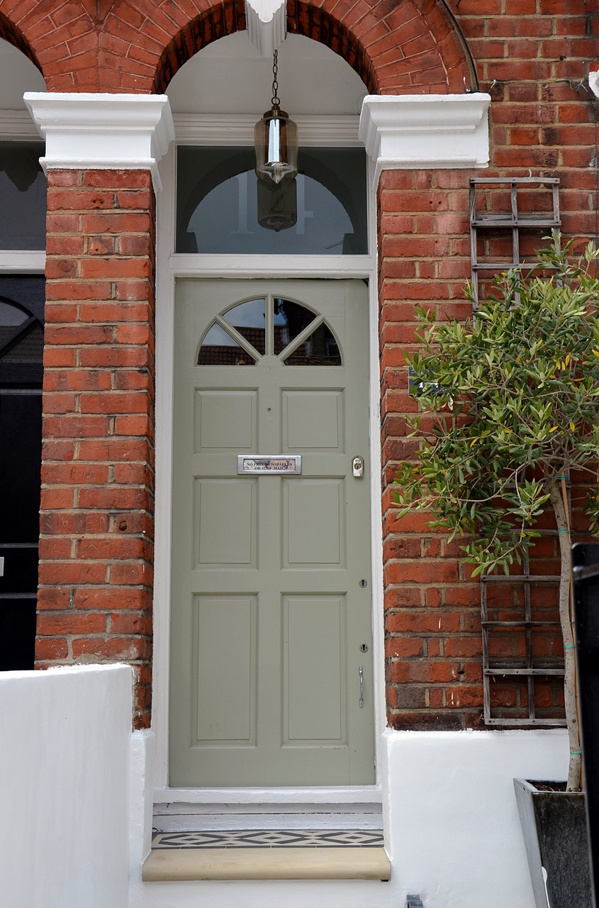 Front Door in Dulux Heritage Stone Green