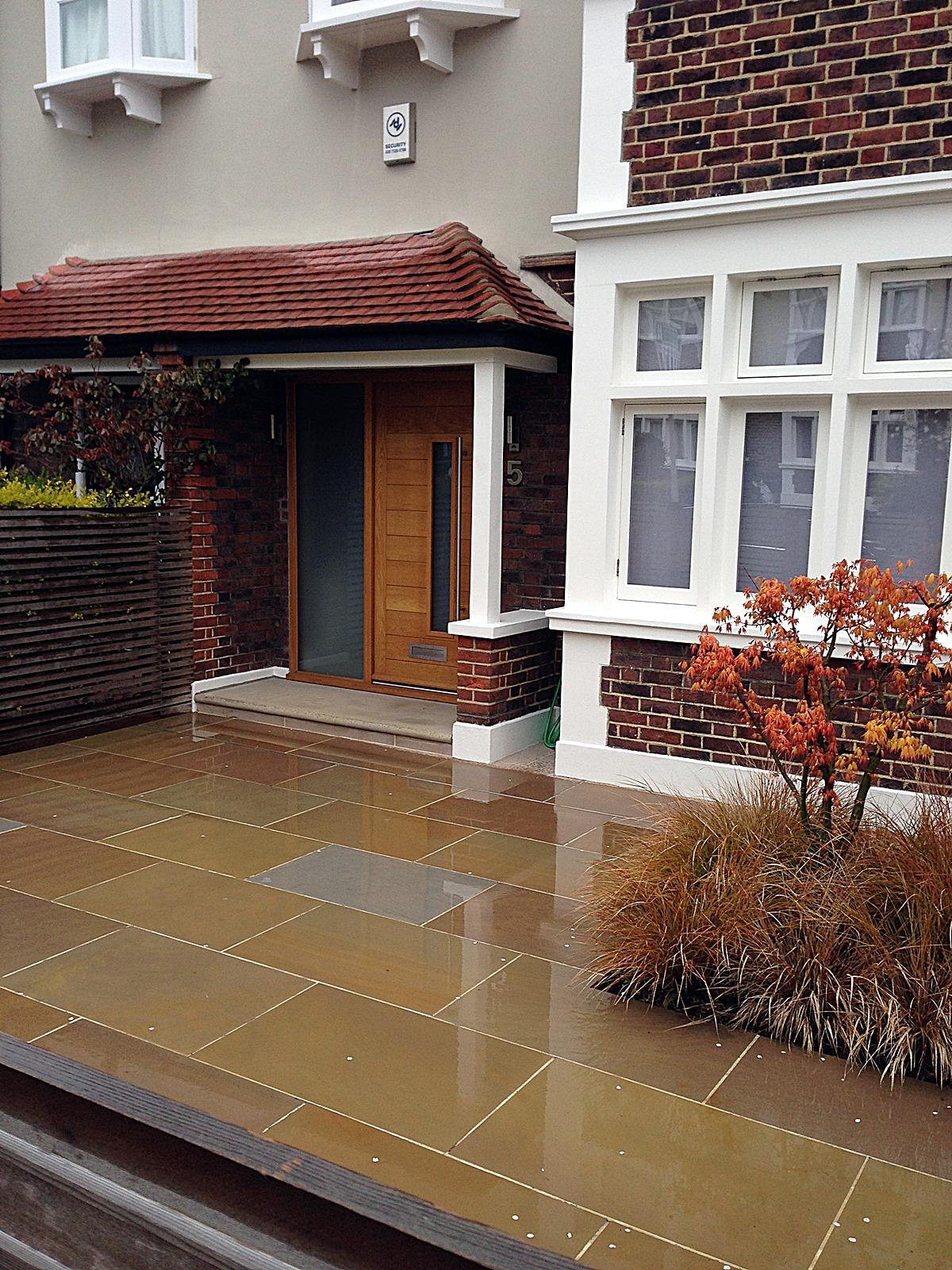 Front driveway balham clapham london sandstone paving  (3)