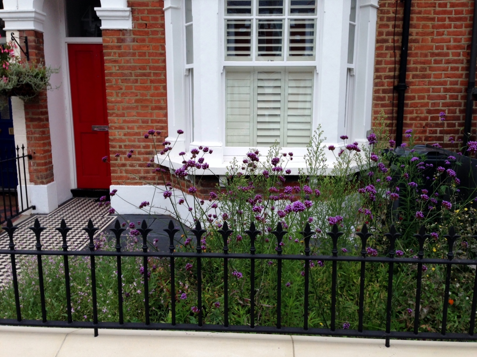 front wall rail garden mosaic victorian tile path balham london (2)