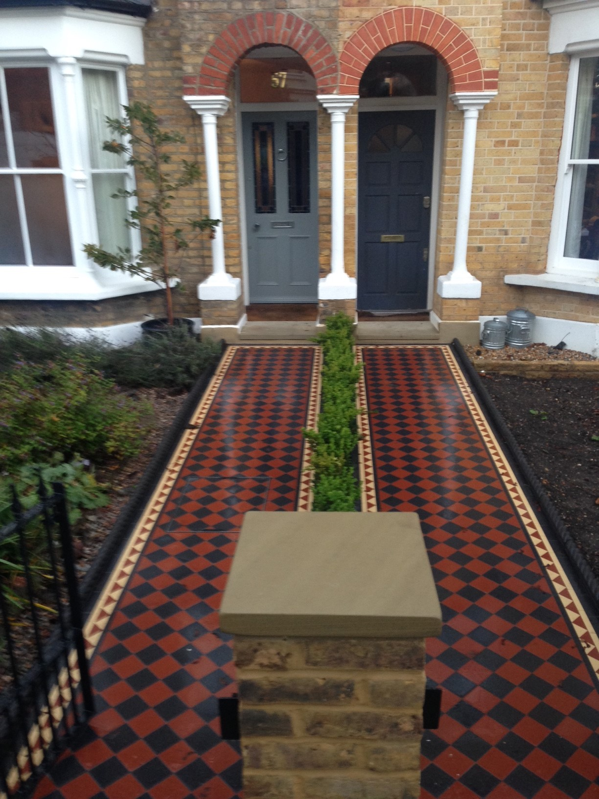 Brixton Herne Hill Victorian Mosaic Tile Path Black And