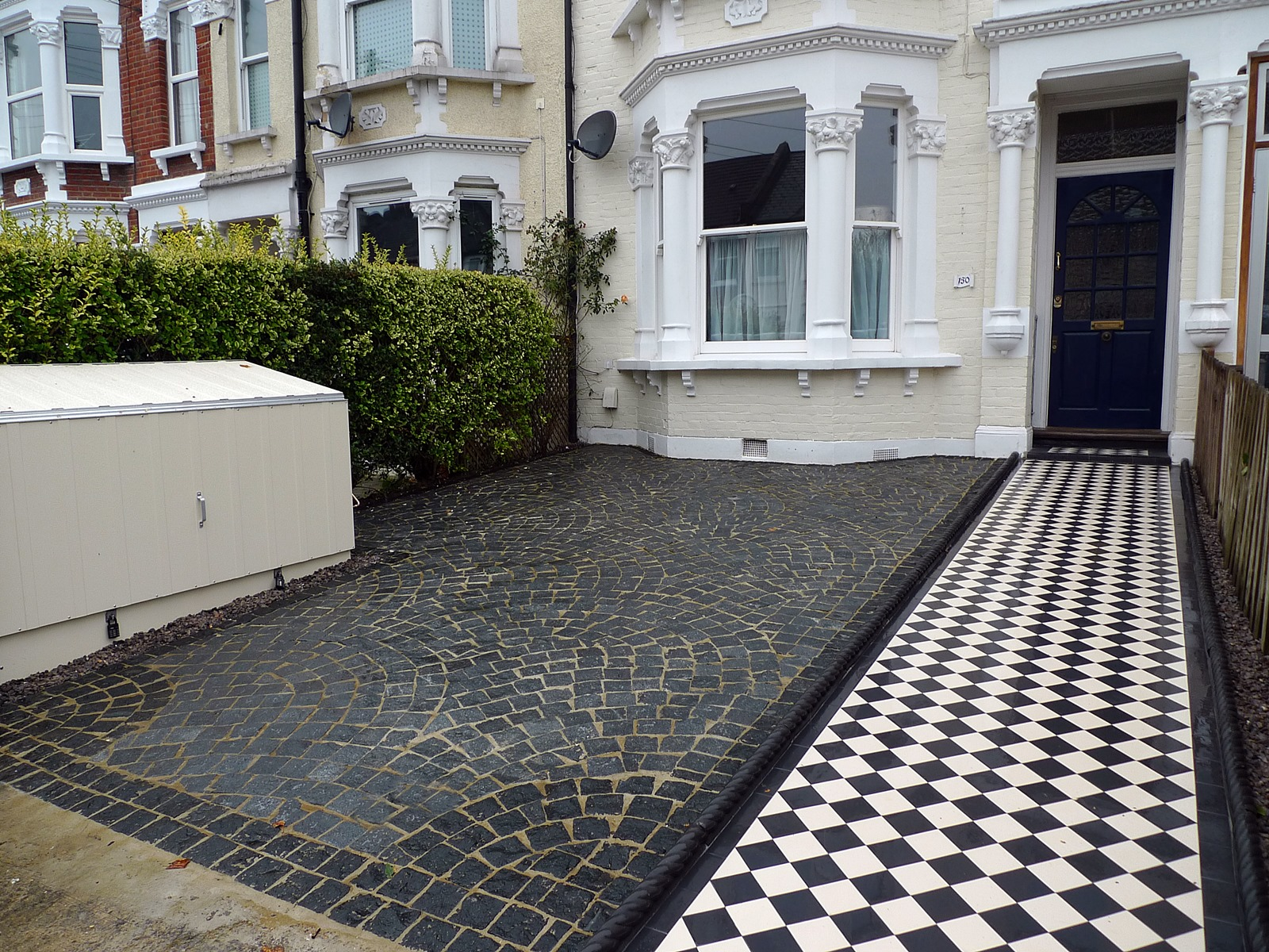 front garden drive way granite setts streatham london