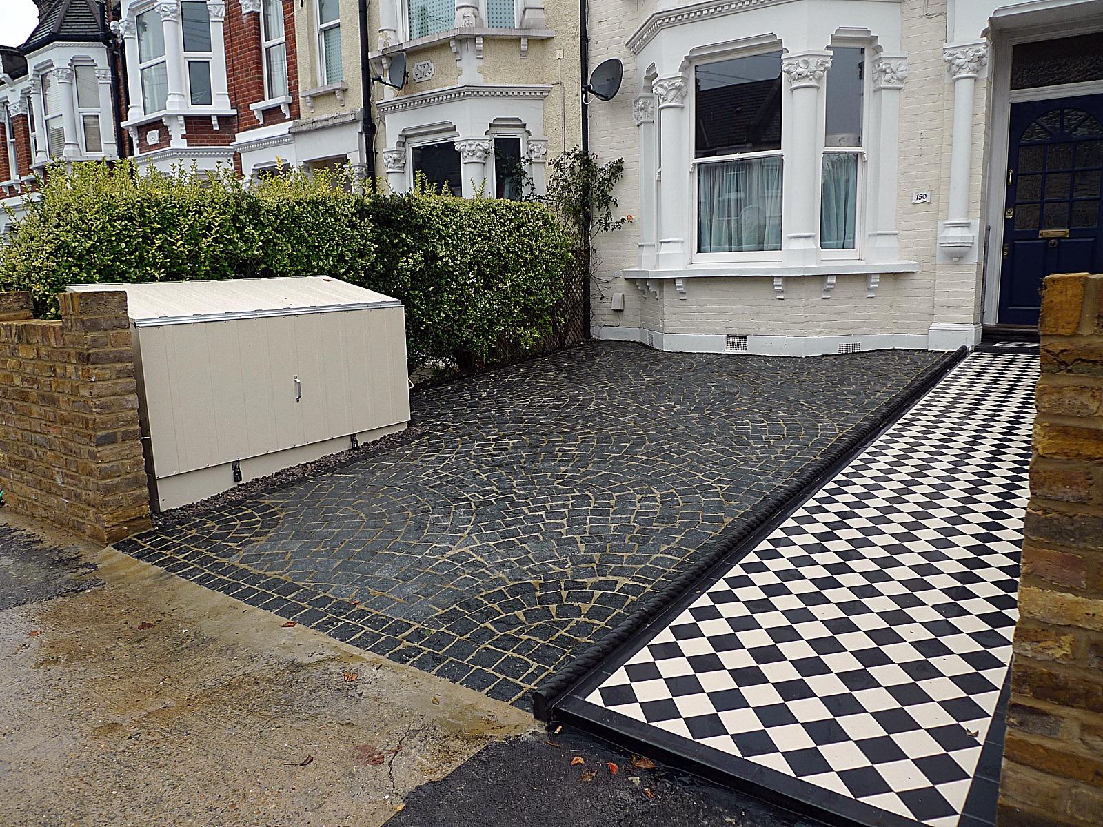 granite sett front garden driveway london