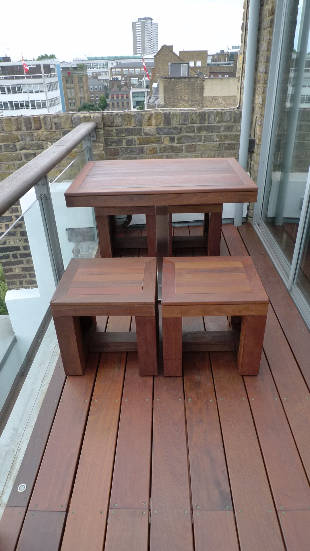 Ipe brazillian hardwood deck decking installation builders garden designers islington central london roof garden (14)