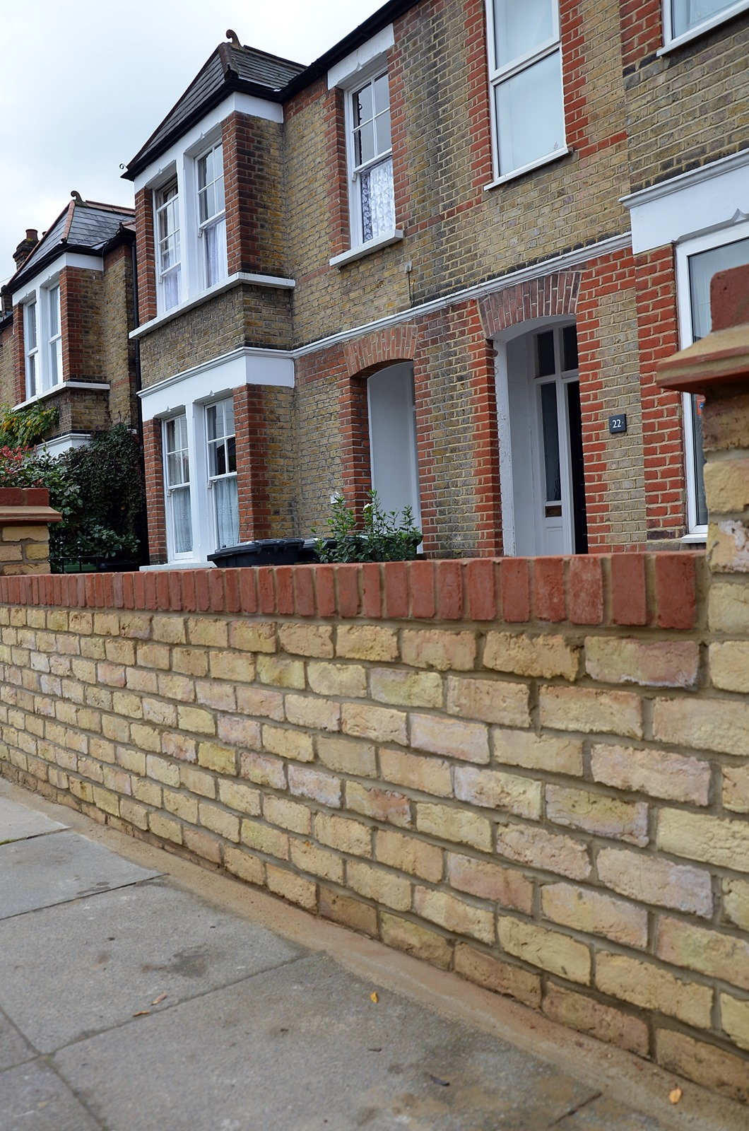 brick wall blackheath catford lea yellow stock imperial london victorian mosaic tile path garden paving front  (5)