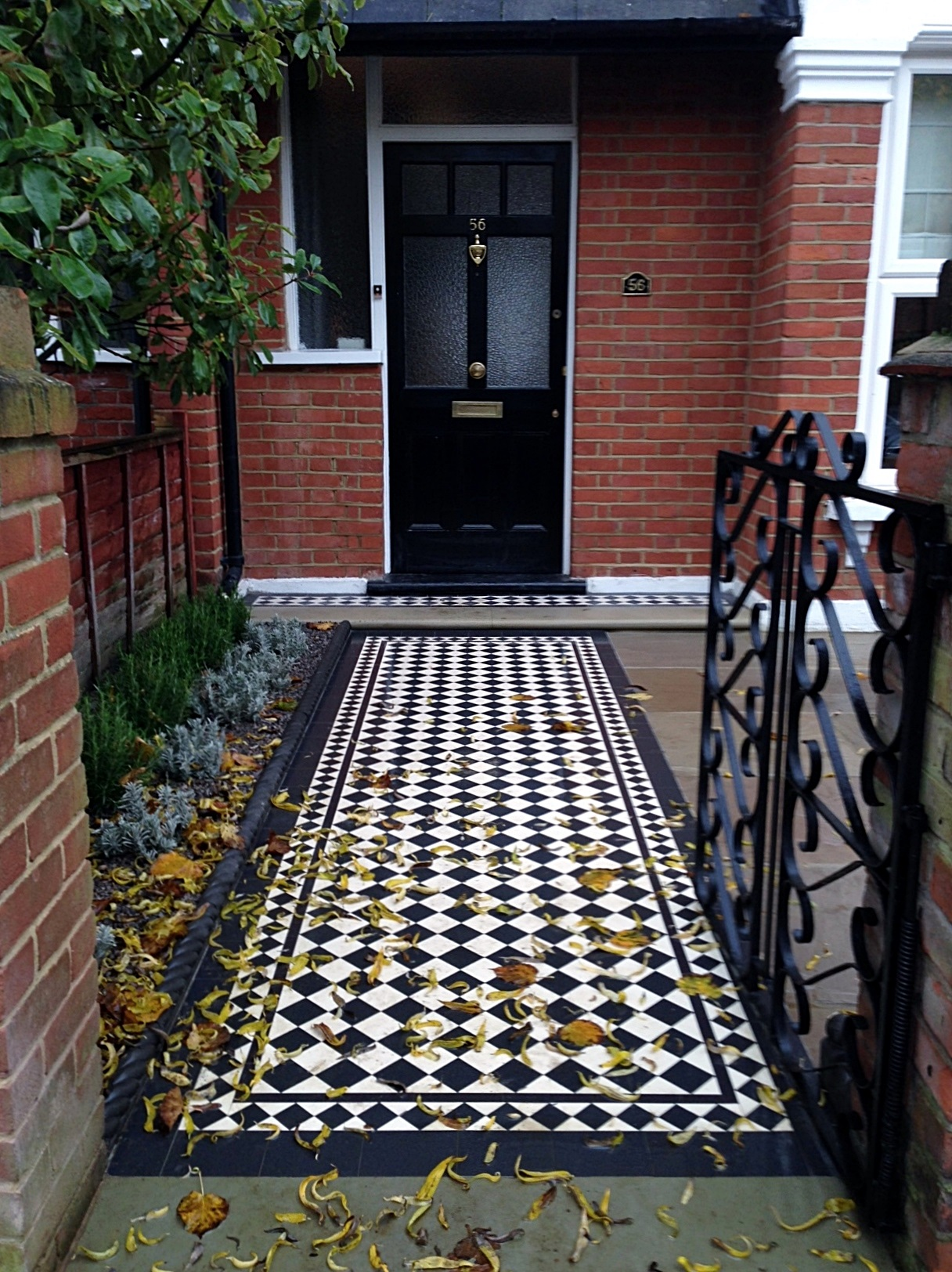 victroian mosaic tile path dulwich crystal palace london (1)