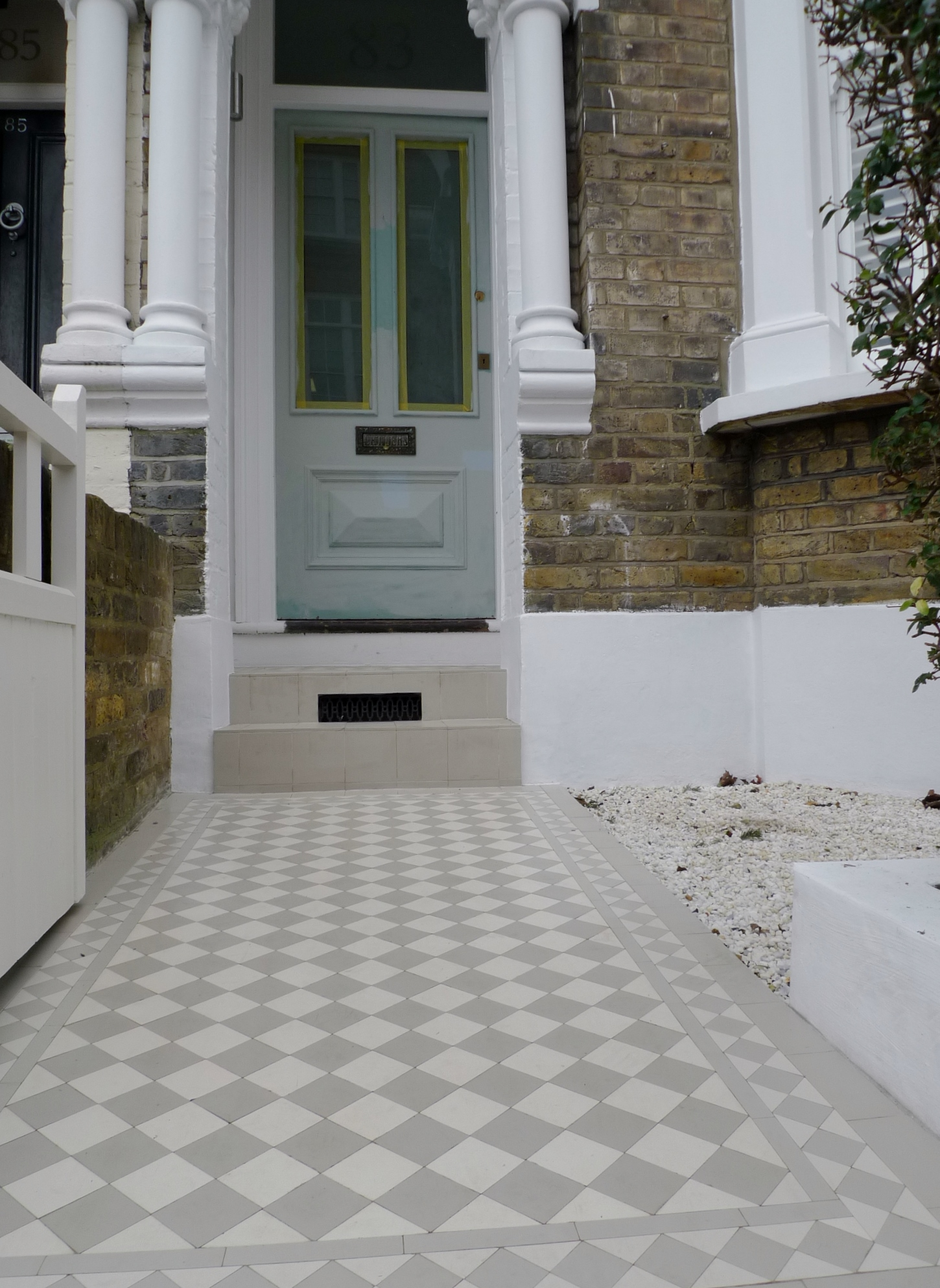 mosaic tile path clapham london