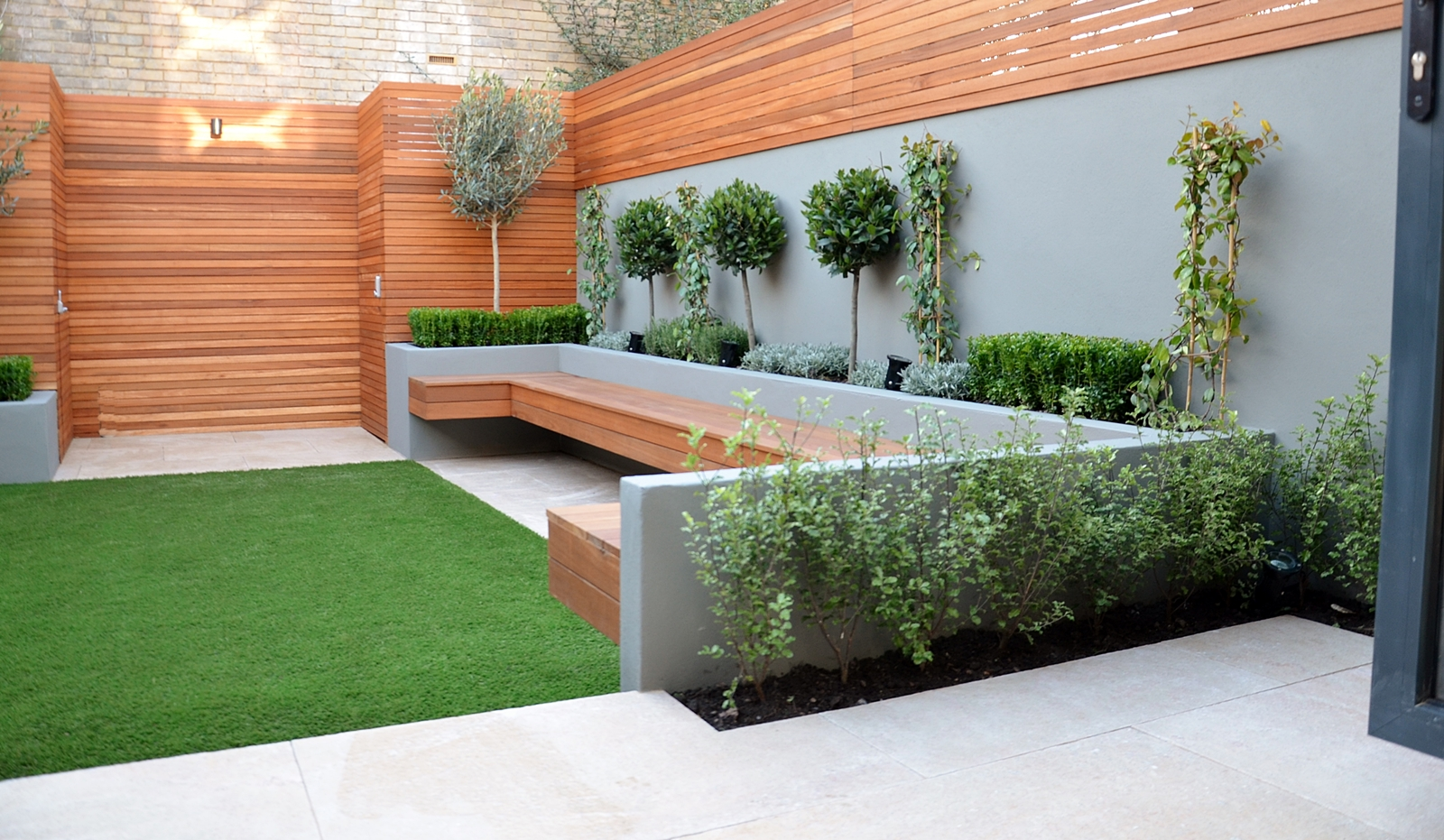 Clapham and london garden design 2015 for Modern house design with garden