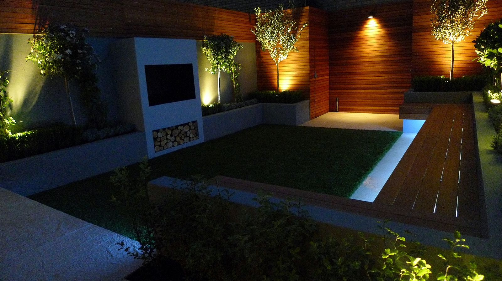 modern garden design london lighting clapham balham battersea