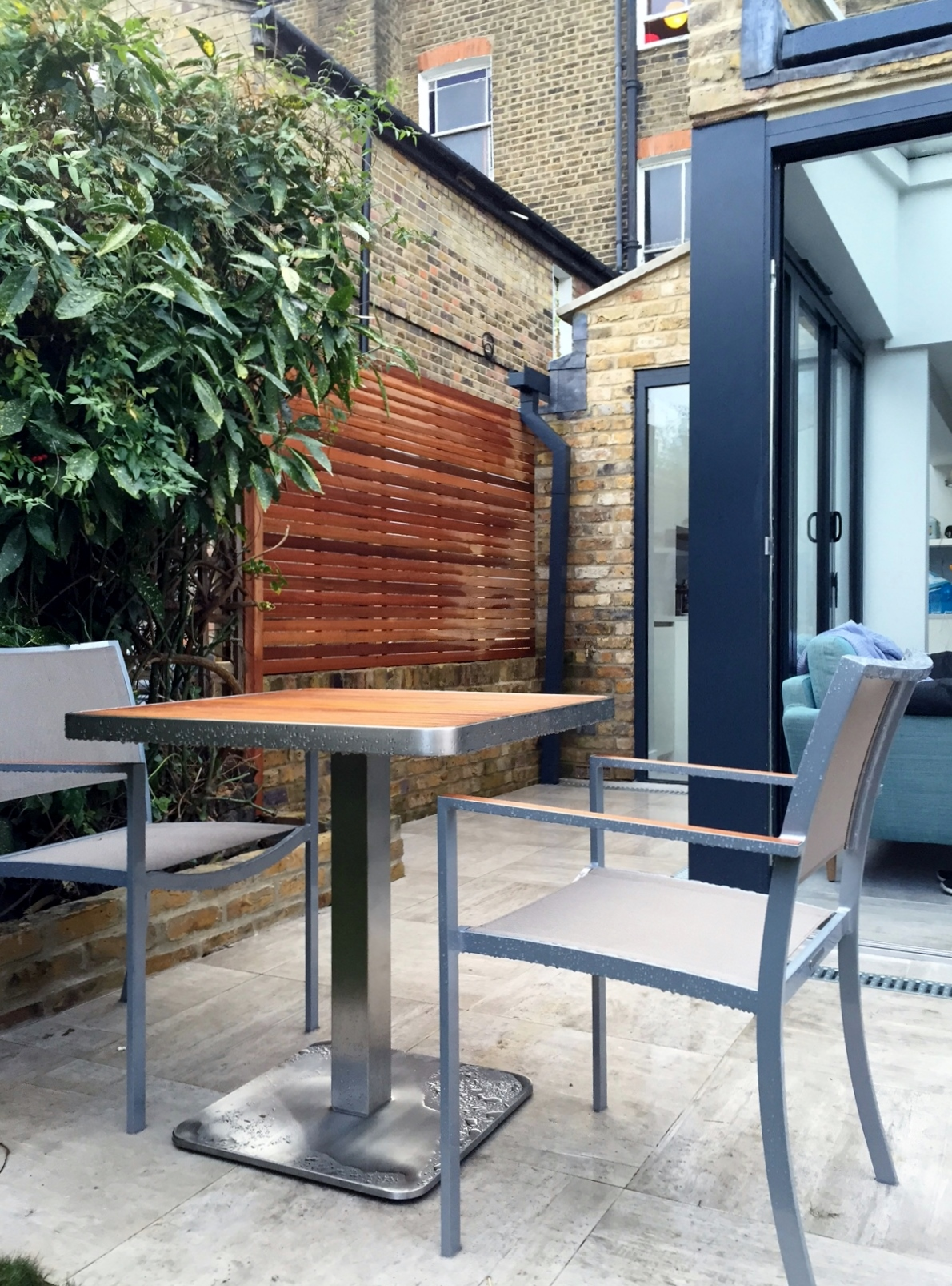 patio trellis screen hardwood fence brixton london