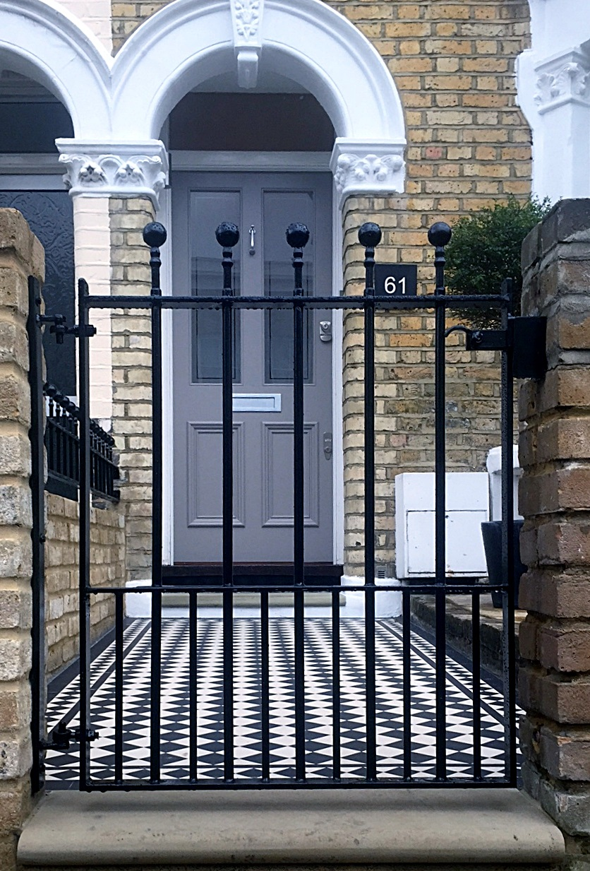 london front garden company dulwich Peckham victorian restoration walls rails and gates mosaic