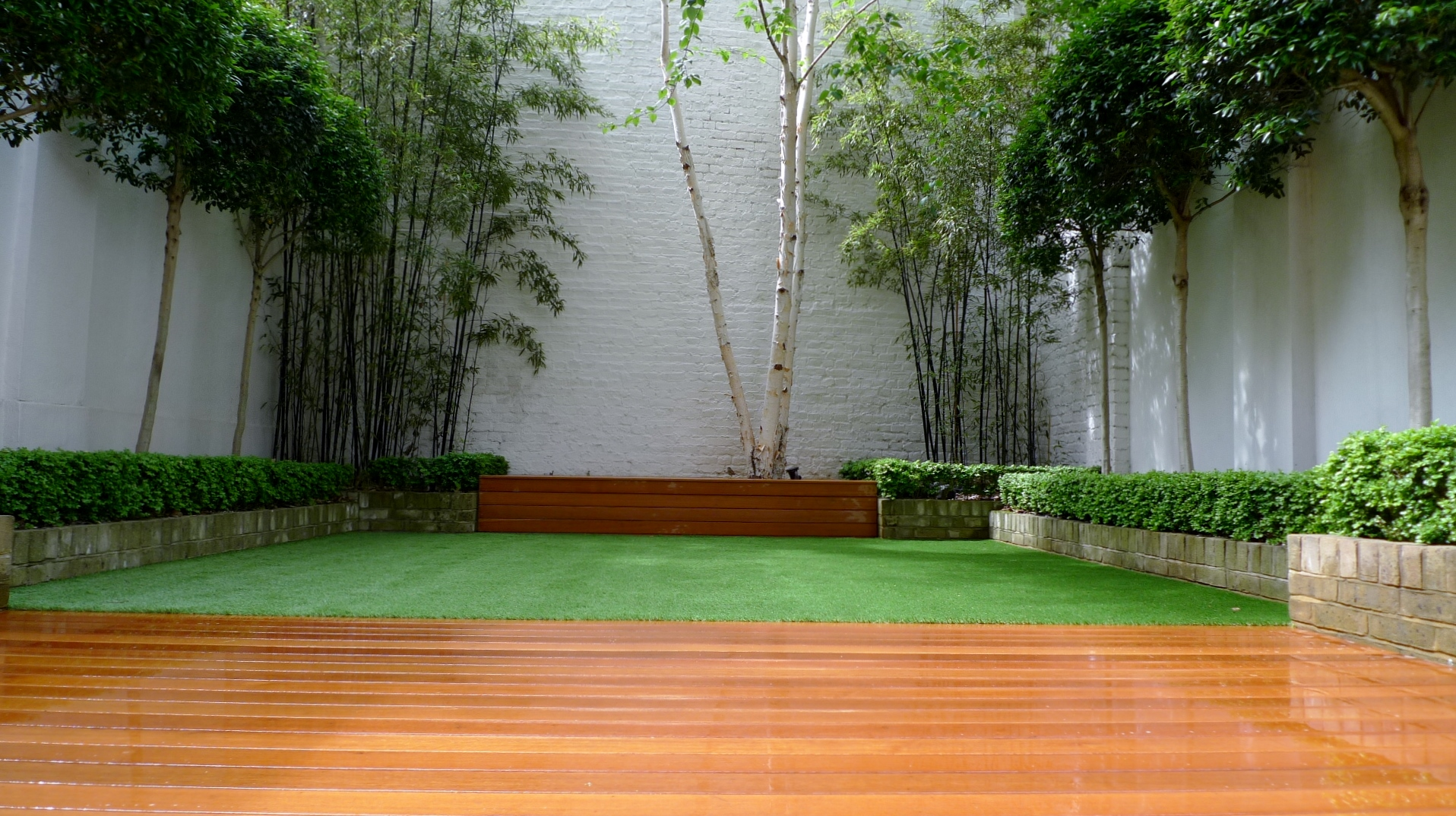 hardwood deck london