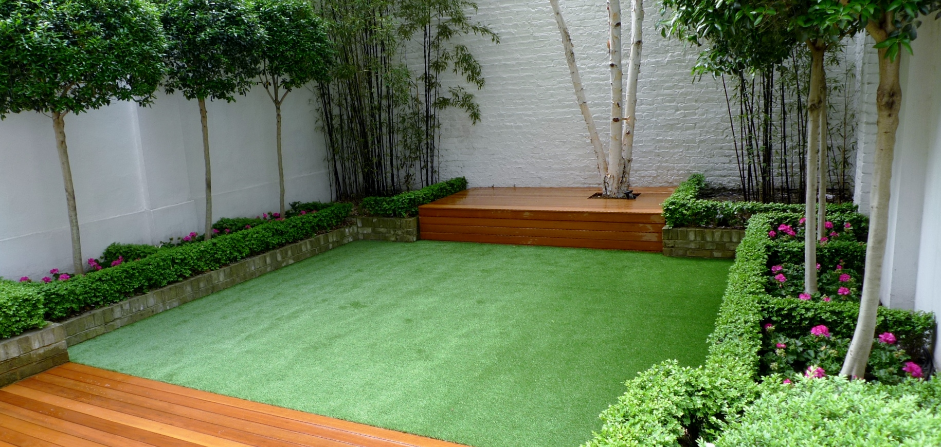 modern garden design fulgam chelsea battersea london