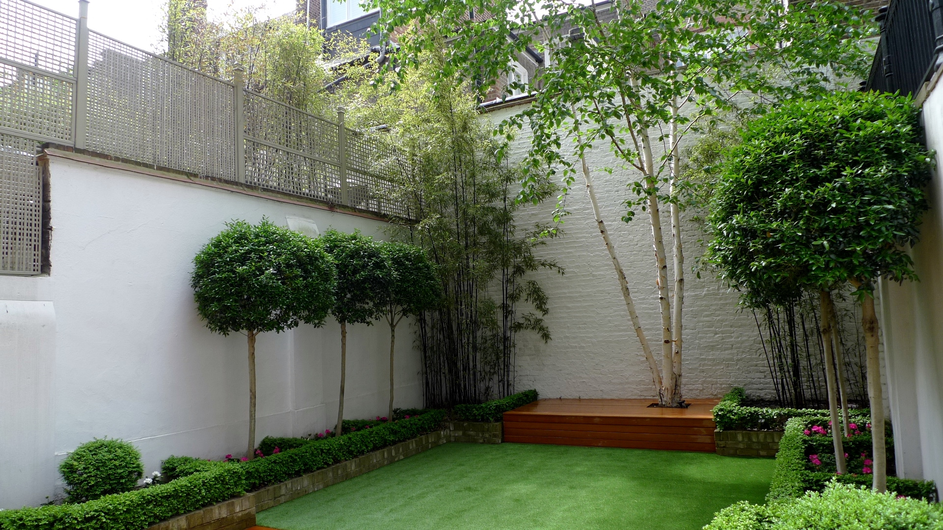modern planting design london garden fulham and chelsea london - Garden Design Blog