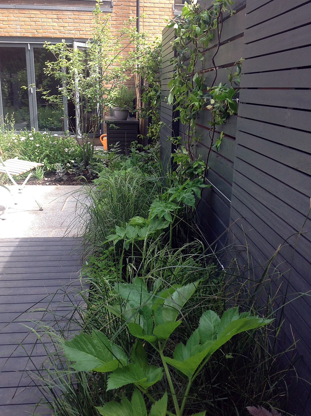 Grey and black garden design peckham battersea dulwich clapham london