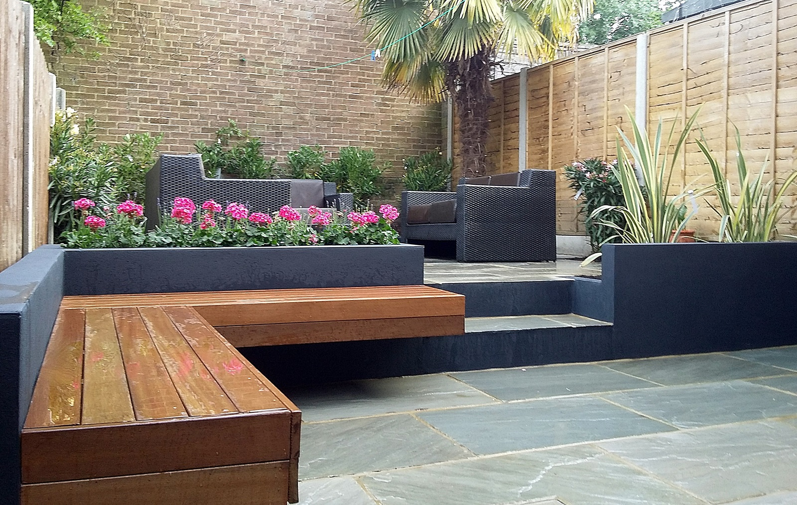 Modern Garden Design London Natural Sandstone Paving Patio